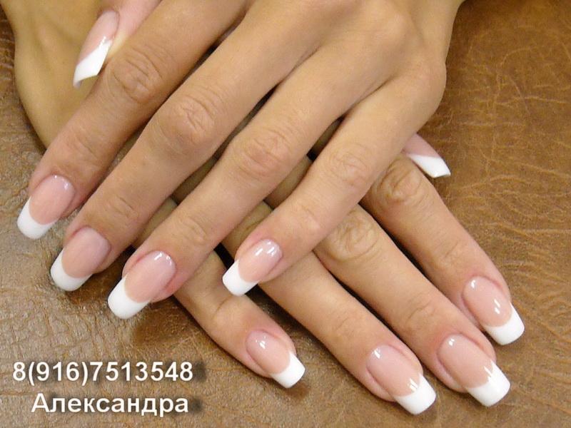 Дизайн френча ногтей классический фото