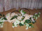 Продам  свадебные кольца с цветами украшение на машину