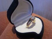 Золотое кольцо с бриллиантами - общий вес камней 1 карат