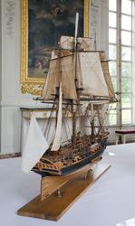 Модель 12-фунтового 30-пушечного фрегата La BELLE POULE ,  1765 года по