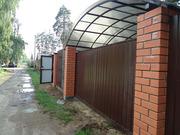 Строительство заборов,  забор из профлиста,  автоматические  ворота,  нав