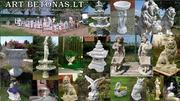 Цветочные вазы, скульптуры, фонтаны,