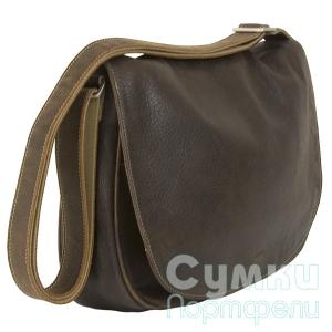 серо-коричневая сумка из кожи Giulia 39442.