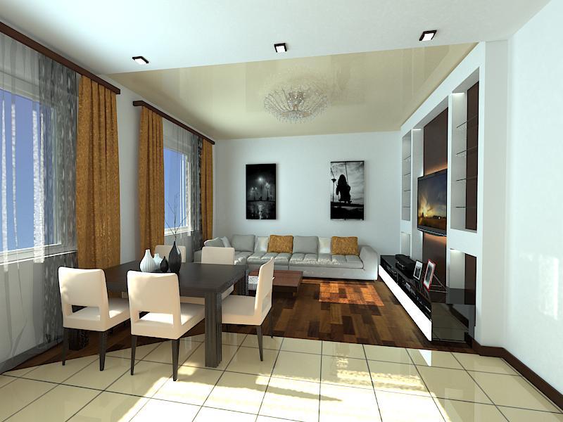 кухня-гостиная 17 квадратов со стеной 6 метров предназначен