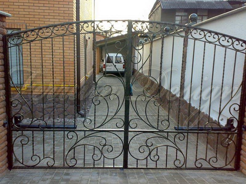 Автоматические ворота а2 плюс забор из профлиста барнаул