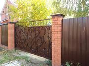 Забор,  навес,  ворота,  металлоконструкции