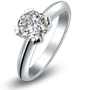 Кольцо с природным бриллиантом 0.5 карат с Алмазной биржи Тель авива