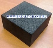 Брусчатка полнопиленная базальтовая 10х10х5 термо.