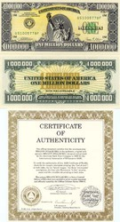 Банкнота миллион долларов США