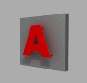 Плоские буквы