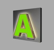 Объёмные буквы с комбинированным подсветом
