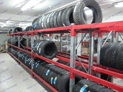 Стеллажи для хранения автомобильных шин (колес)