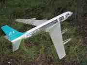 Макет самолета Боинг 707. Длина фюзеляжа – 180 см.
