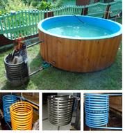 Чем нагреть бассейн на даче,  нагревателем Average.