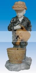декоративные фонтаны-статуи из натурального мрамора