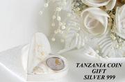 Свадебный подарок монета Love Forever Танзанийский шиллинг