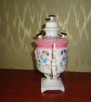 чаша самовар императорского фарфора товарищества м с кузнецова
