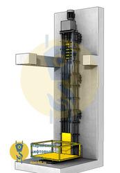 Цепной грузовой подъемник лифт