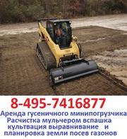 495-7416877 Аренда услуги гусеничного мини погрузчика заказать гусеничный мини погрузчик