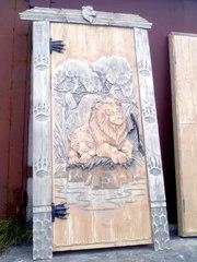 Резные двери для дома,  дачи,  бани