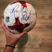 Мяч с автографом Роналдинио