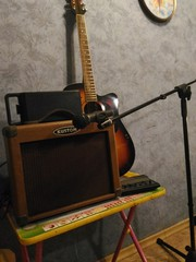Электроакустическая гитара.Комбик.