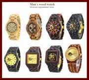 Наручные часы из натурального дерева,  мужские и женские,  ассортимент!