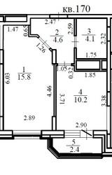 Однокомнатная квартира 36 м.Мытищи.