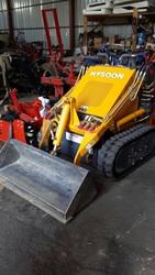 Гусеничный мини-трактор Hysoon HY-380 в комплекте с ковшом грузоподъемностью