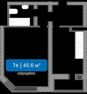 Продам 1-комнатную квартиру в г. Долгопрудный,  мкр Центральный