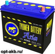 Аккумулятор автомобильный Тюмень ASIA 6СТ-45L