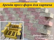 Аренда пресс форм,  матрицы для облицовочного кирпича напрокат в России