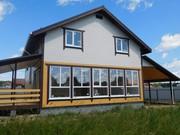 Дом с панорамными окнами , гаражом , маг.  газом Киевское Минское шоссе