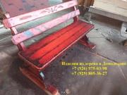 Скамейка садовая со спинкой / массив сосна