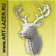 Голова оленя на стену,  декор стены,  интерьер,  ручная работа,  подарок,