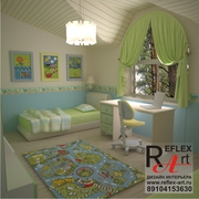 Авторский дизайн-проект интерьера квартиры,  коттеджа,  офиса.