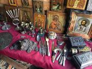 Куплю значки,  марки,  картины,  иконы,  янтарь,  банкноты,  рог шерстистого